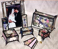 Glass Boxes and picture frames - Contact us for stained glass windows and glass gifts, including frames, candleholders, night-lights, and sun catchers.